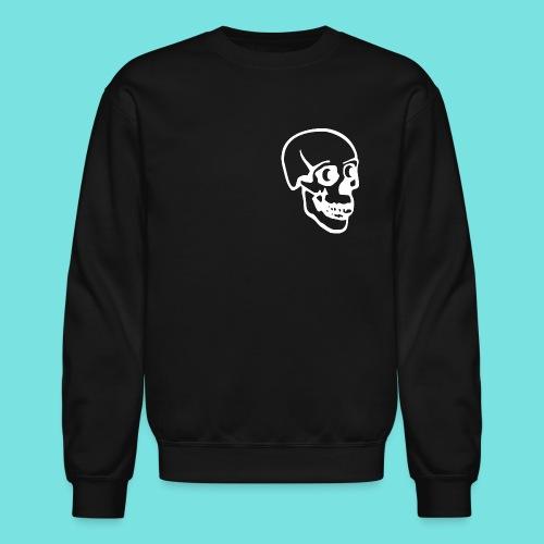 Crewneck Sweatshirt with White Skull - Crewneck Sweatshirt