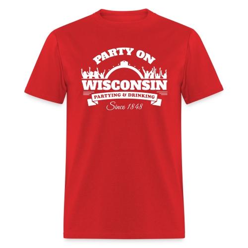 Party On Wisconsin - Mens Shirt - Men's T-Shirt