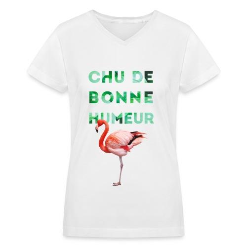 V-neck pour femmes CHU DE BONNE HUMEUR - Women's V-Neck T-Shirt