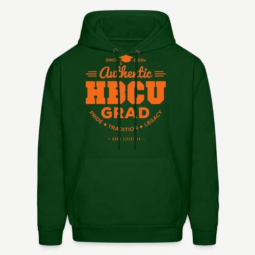 Authentic HBCU Grad- Men's Orange and Green Hoodie - Men's Hoodie