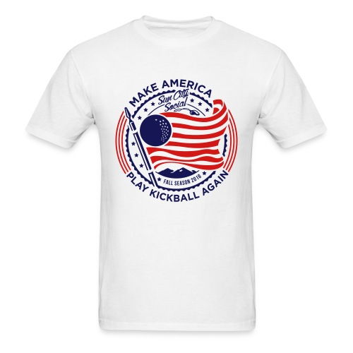 Make America Play Kickball - Men's T-Shirt