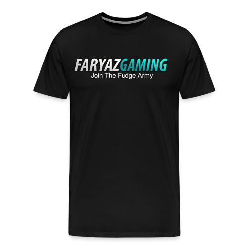FaryazGaming Shirt Text (Black) - Men's Premium T-Shirt