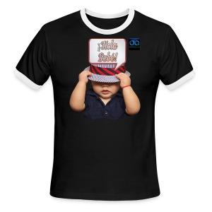 Hola Bebé - Hi Baby by DobleaArias - Men's Ringer T-Shirt