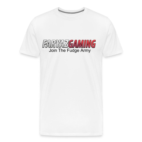 FaryazGaming Shirt Text (White) - Men's Premium T-Shirt