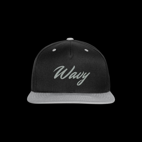 Script Hat Grey - Snap-back Baseball Cap