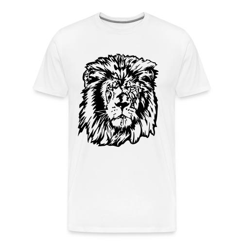 King of the Jungle White T - Men's Premium T-Shirt