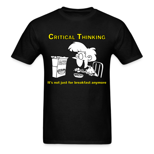 Critical Thinking for Breakfast men's products - Men's T-Shirt