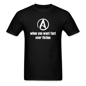 Fact over Fiction products (men's white on black) - Men's T-Shirt
