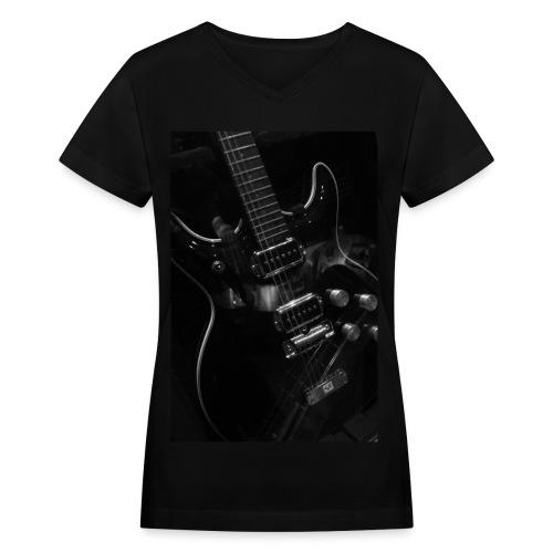 Rockit Women's Tee (black) - Women's V-Neck T-Shirt