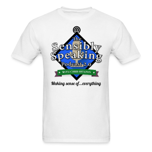Sensibly Speaking Podcast logo men's products - Men's T-Shirt