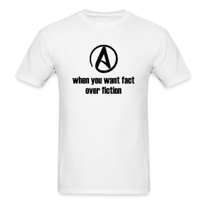 Fact over Fiction Products (men's black on white) - Men's T-Shirt