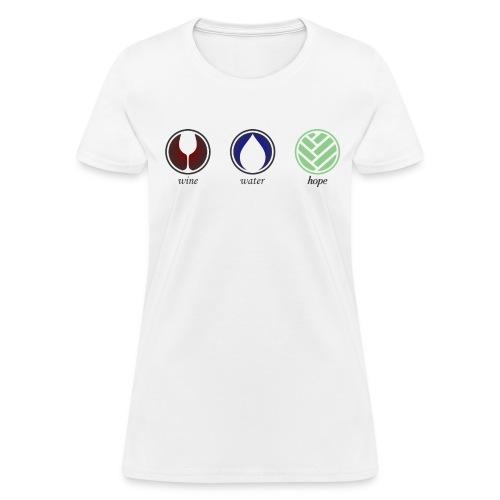 Wine Water Hope White T-shirt - Women's T-Shirt
