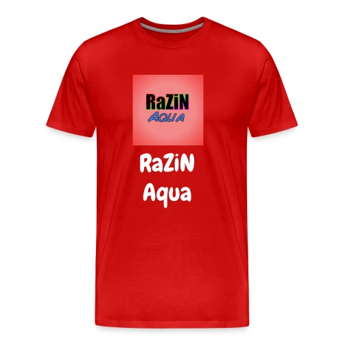 RaZiN Aqua logo and name - Men's Premium T-Shirt