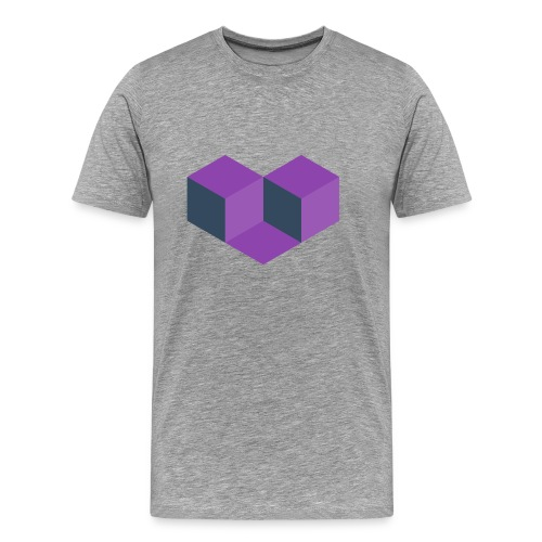 Gray Heart Games Tee - Men's Premium T-Shirt