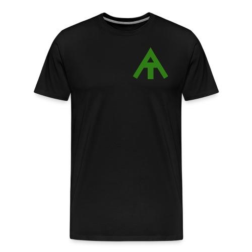 Green & Black Swizy T-Shirt - Men's Premium T-Shirt