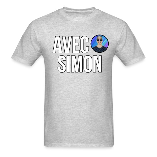 AvecSimon Mini Logo - Men's T-Shirt