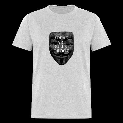 Ideas are Bulletproof wordart (men's products) - Men's T-Shirt