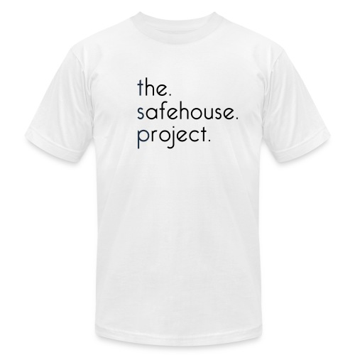The Safehouse Project Original WHITE Tee AMERICAN APPAREL - Men's Fine Jersey T-Shirt