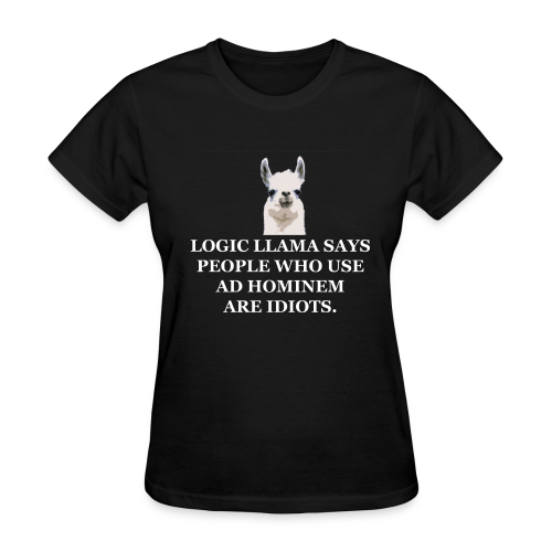 Logic Llama - Ad Hominem (women's products) - Women's T-Shirt