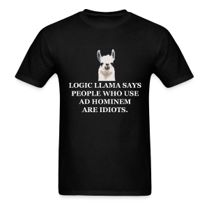 Logic Llama - Ad Hominem (men's products) - Men's T-Shirt
