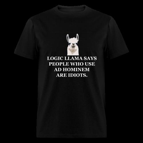 Logic Llama - Ad Hominem (men's products) - Men's T-Shirt