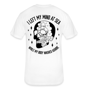 I Left My Mind At Sea - Unisex Tee White - Fitted Cotton/Poly T-Shirt by Next Level