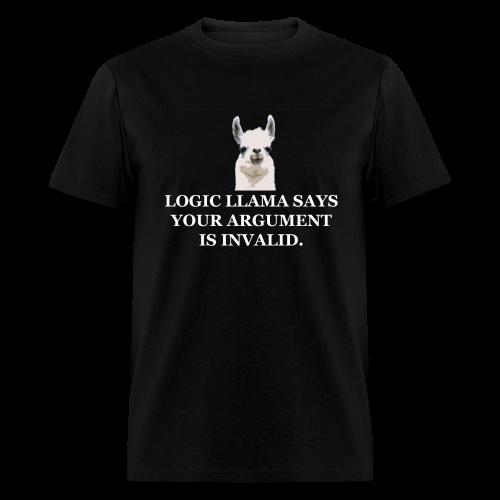 Logic Llama - Your Argument is Invalid (men's products) - Men's T-Shirt