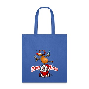 Merry X-mas from Santa Claus and his reindeer - Tote Bag
