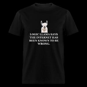 Logic Llama - Internet is Wrong (men's products) - Men's T-Shirt