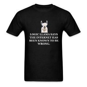 Logic Llama - Internet is Wrong (men's products) - Men's T-Shirt