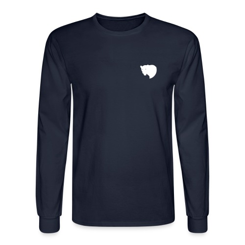 Long Sleeved Shirt with Logo - Men's Long Sleeve T-Shirt