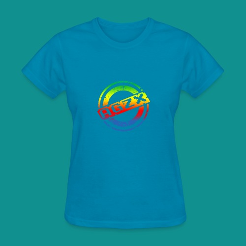 Women Turquoise/Rainbow - Women's T-Shirt