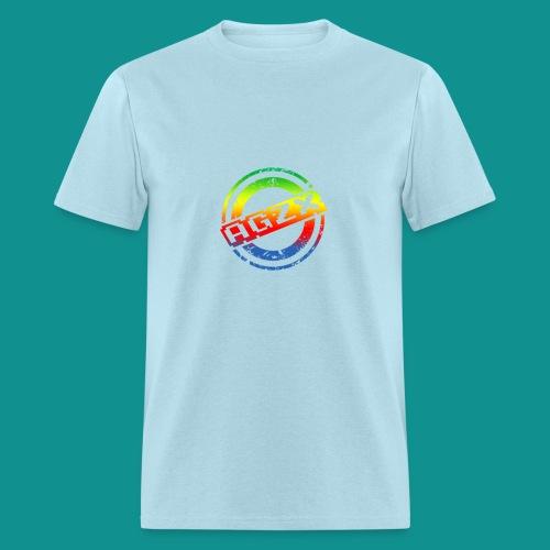 Men Powder Blue/Rainbow - Men's T-Shirt