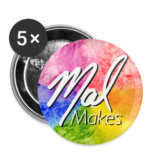 MalMakes Buttons (5 Pack) - Small Buttons