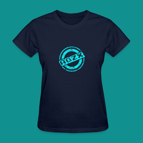 Women Navy Blue/Teal - Women's T-Shirt