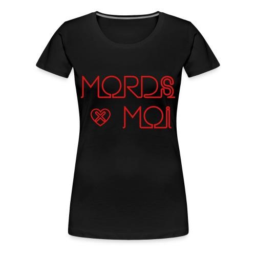 SKULL LOVES ROBOT - Womans Bite Me Tee - Women's Premium T-Shirt
