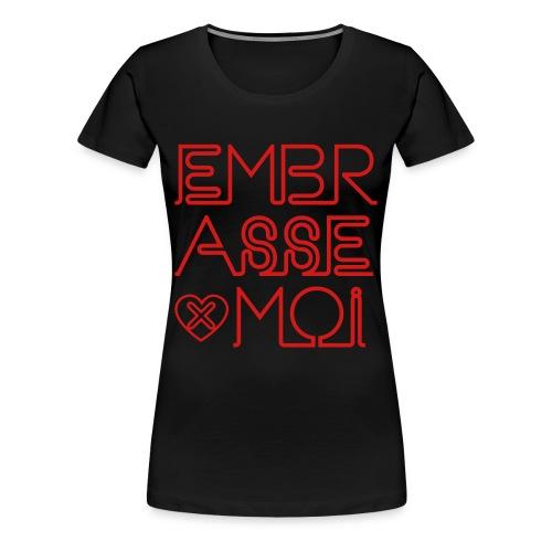 SKULL LOVES ROBOT - Womans Kiss Me Tee - Women's Premium T-Shirt