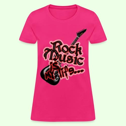 Rock music is my life I PHONE 5/5S - Women's T-Shirt