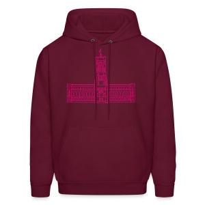Red City Hall Berlin (neon pink) - Men's Hoodie