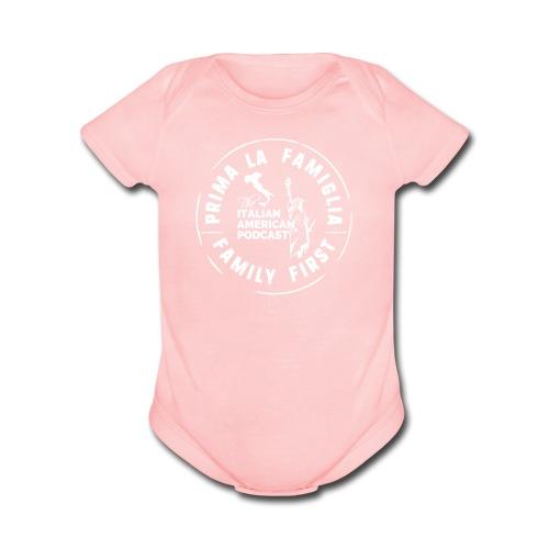 Baby Short Sleeve One Piece by LAT - Organic Short Sleeve Baby Bodysuit