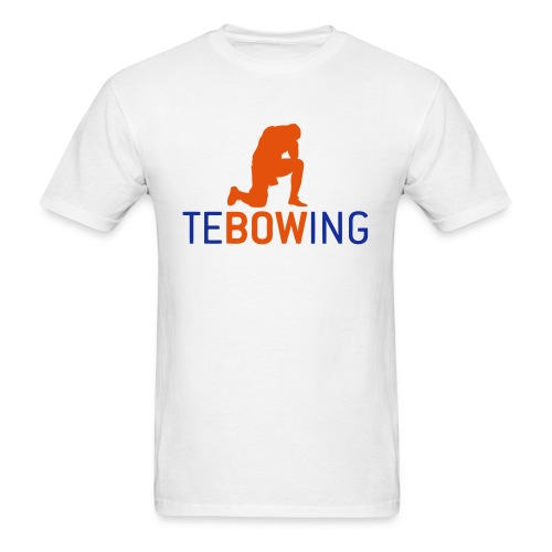 Tebowing White - Men's T-Shirt