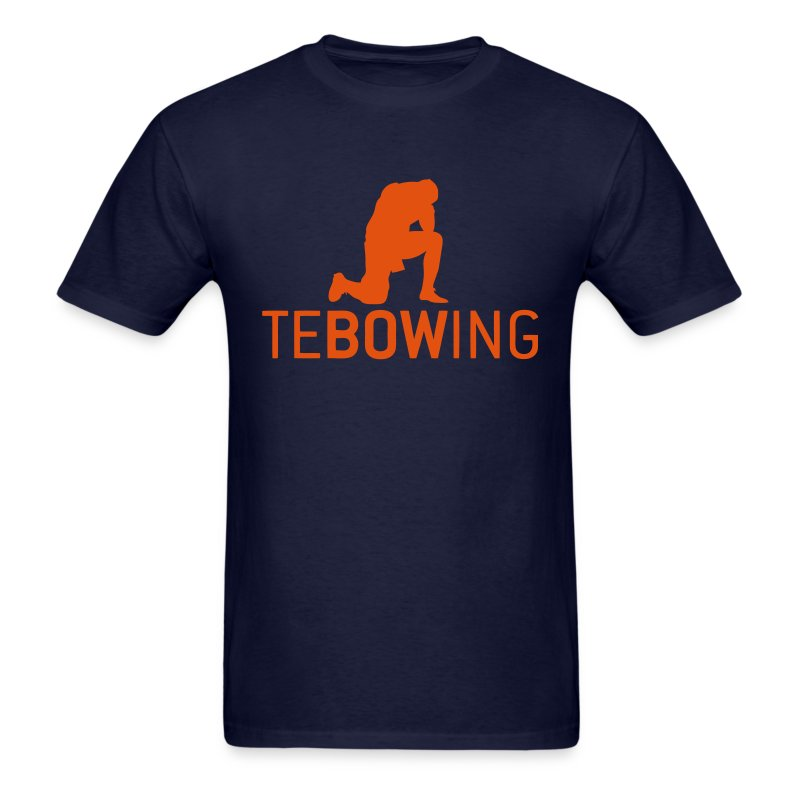 Navy Classic Tebowing Shirt - Men's T-Shirt