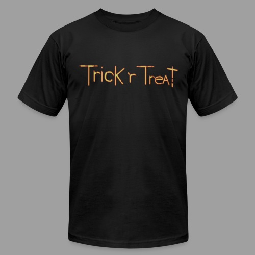 TrickRTreat Text men Black Shirt By American Apparel - Men's Fine Jersey T-Shirt