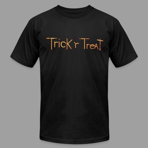 TrickRTreat Text men Black Shirt By American Apparel - Men's  Jersey T-Shirt