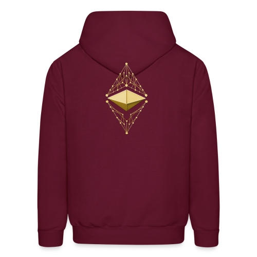 Ethereum Classic Made of Gold two sides printed Hoodie - Men's Hoodie