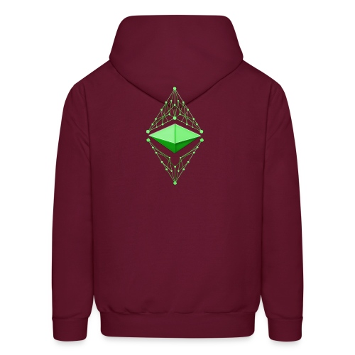 Ethereum Classic Made of Green two sides printed Hoodie - Men's Hoodie