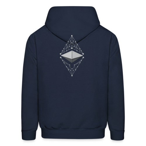 Ethereum Classic Made of Silver two sides printed Hoodie - Men's Hoodie