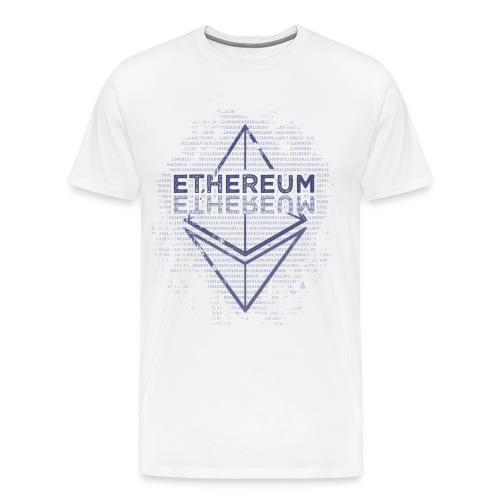 Ethereum Frontier Blue original on white - Men's Premium T-Shirt