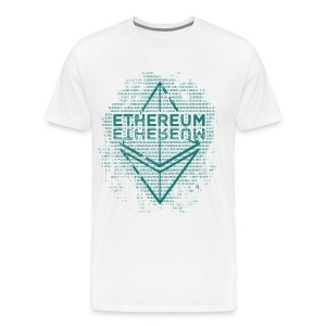 Ethereum Frontier Turquoise on white - Men's Premium T-Shirt