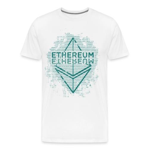 Ethereum Frontier Turquoise on white - Men's Premium T-Shirt